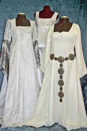 Medieval/ Renaissance/Celtic style wedding dresses. \