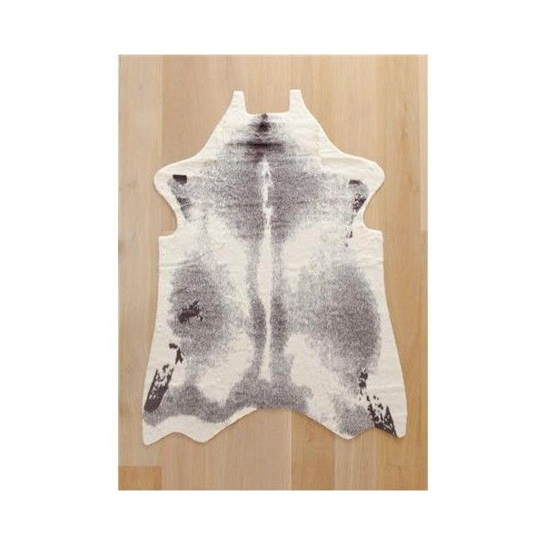 Faux Cowhide Rug   Grey | Kmart (49 AUD) Via Polyvore Featuring Home,