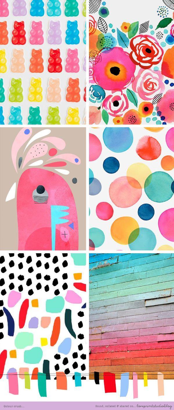 love print studio blog: Colour crush... mood board, color palette