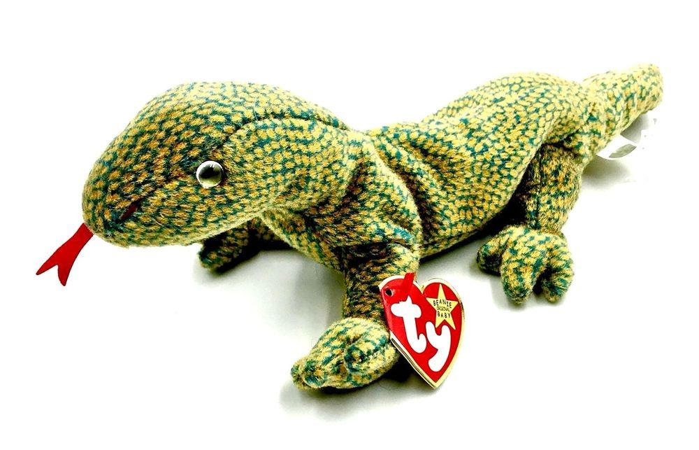 Ty Beanie Baby Scaly Lizard Komodo Dragon Soft Toy New Tags Plush