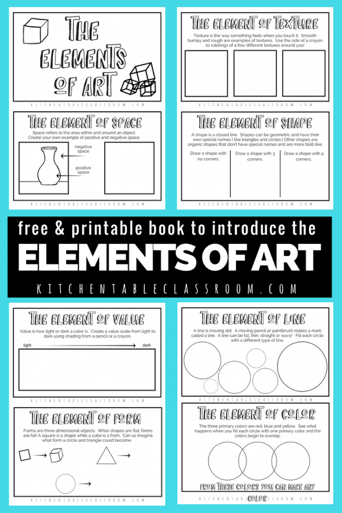 Formal Elements Line : The formal elements of art for kids with free printable