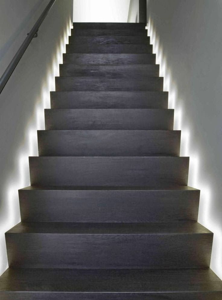 Shadow Gap Staircase Lighting: Stair Tread Lighting: I Love The Look Of These LED Light