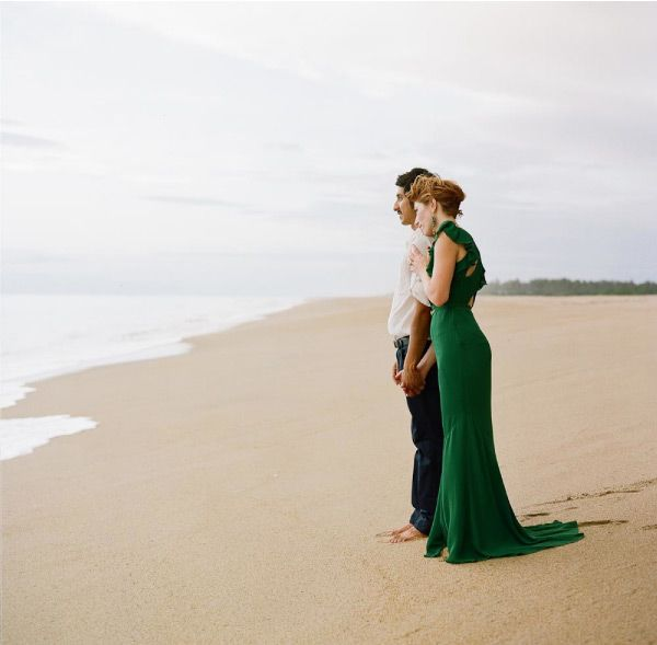 Mexico Wedding With Personality Where Oh Do You Start A Like This The Fabulous Jade Colored Gucci Dress Perhaps