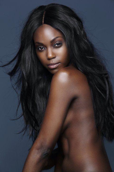 Slim ebony babe