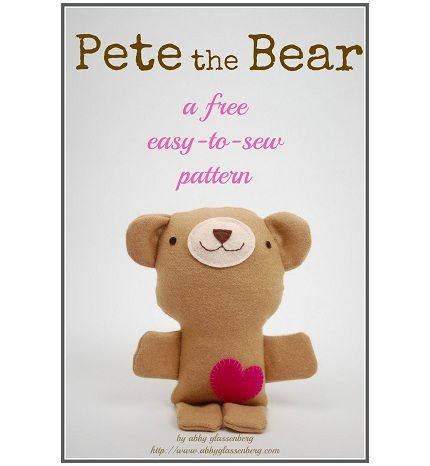 Free pattern: Pete the Bear softie | Craft patterns, Patterns and Crafts