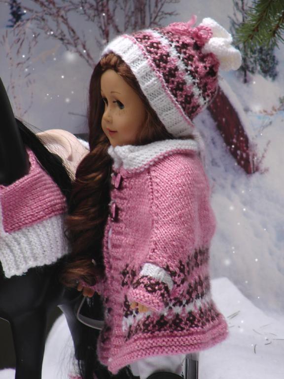 (6) Name: 'Knitting : Denali Cape set for American Girl Dolls