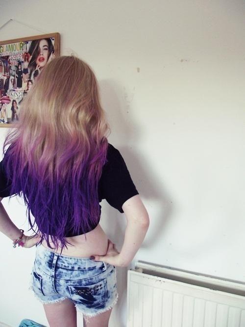 purple blonde ombre hair