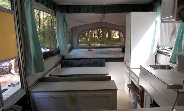 Jayco Pop Up Camper Remodel In Progress White Paint And White