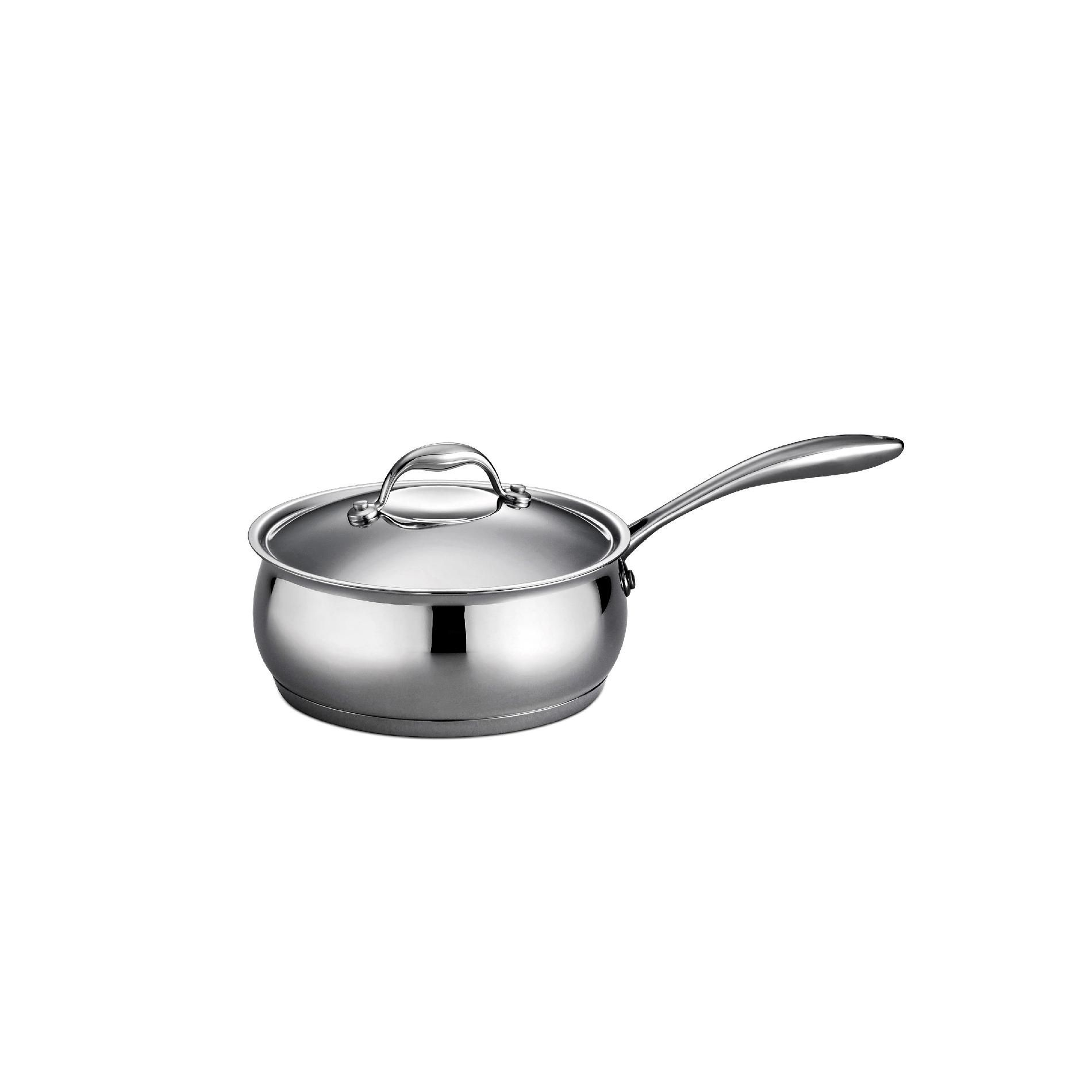 Tramontina Gourmet - Domus 18/10 Stainless Steel 3 Qt Covered Sauce Pan, Silver