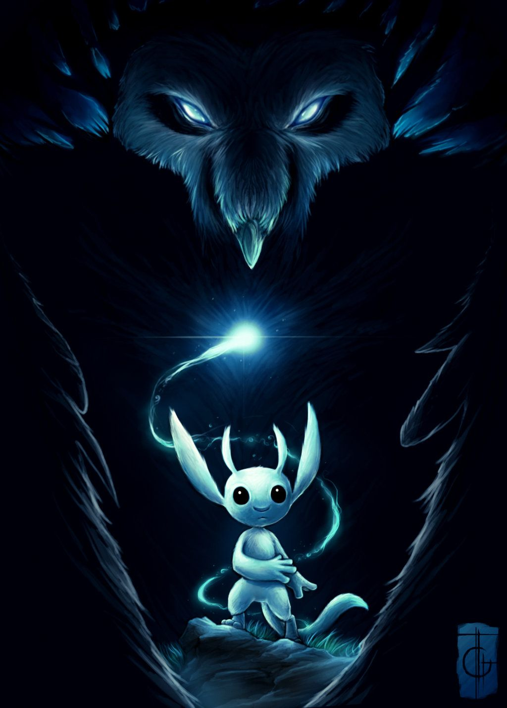 Ori And The Blind Forest Fan Art Created By Rodney Amirebrahimi