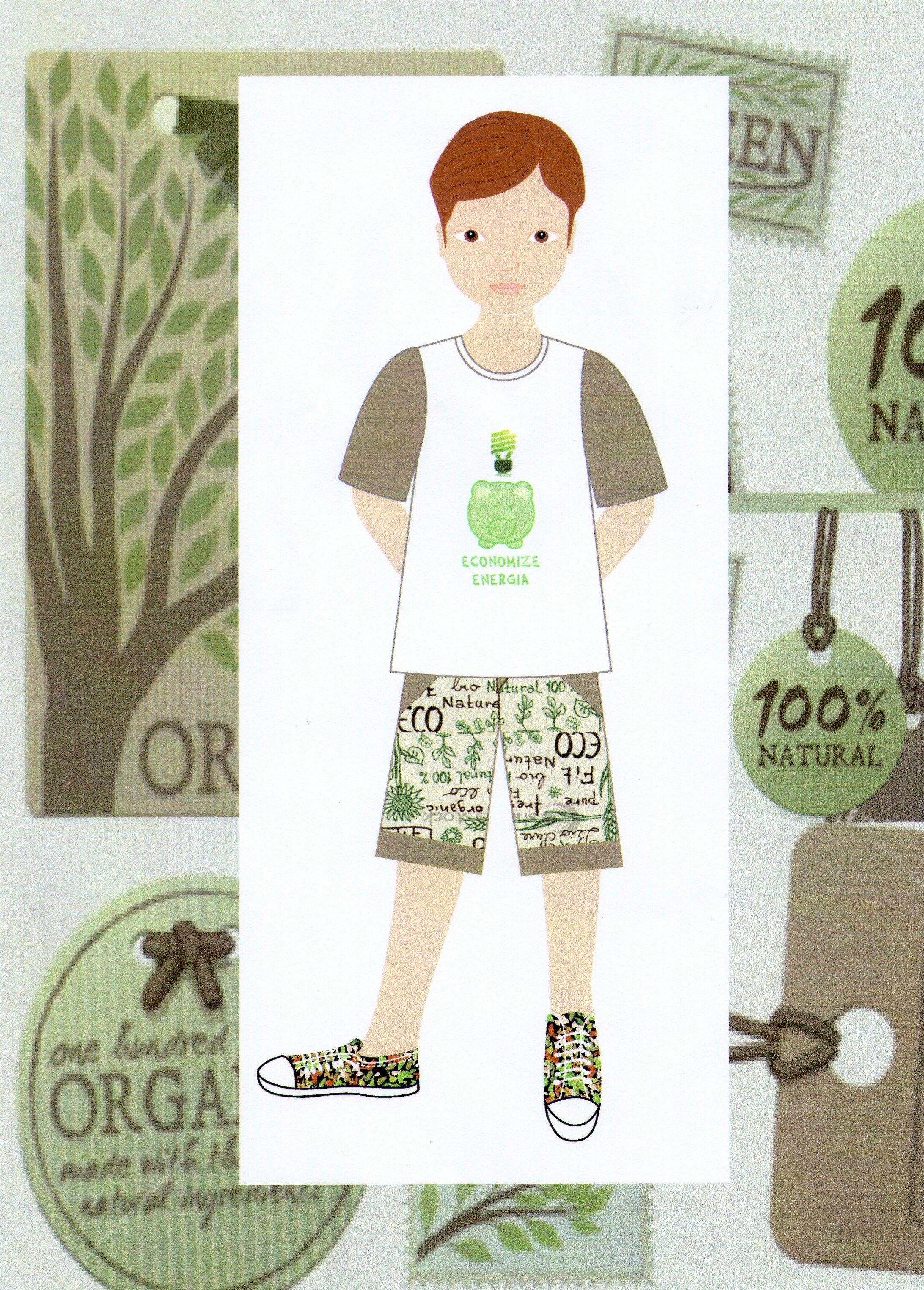 Moda infantil Coleção Eco, inspirada na natureza