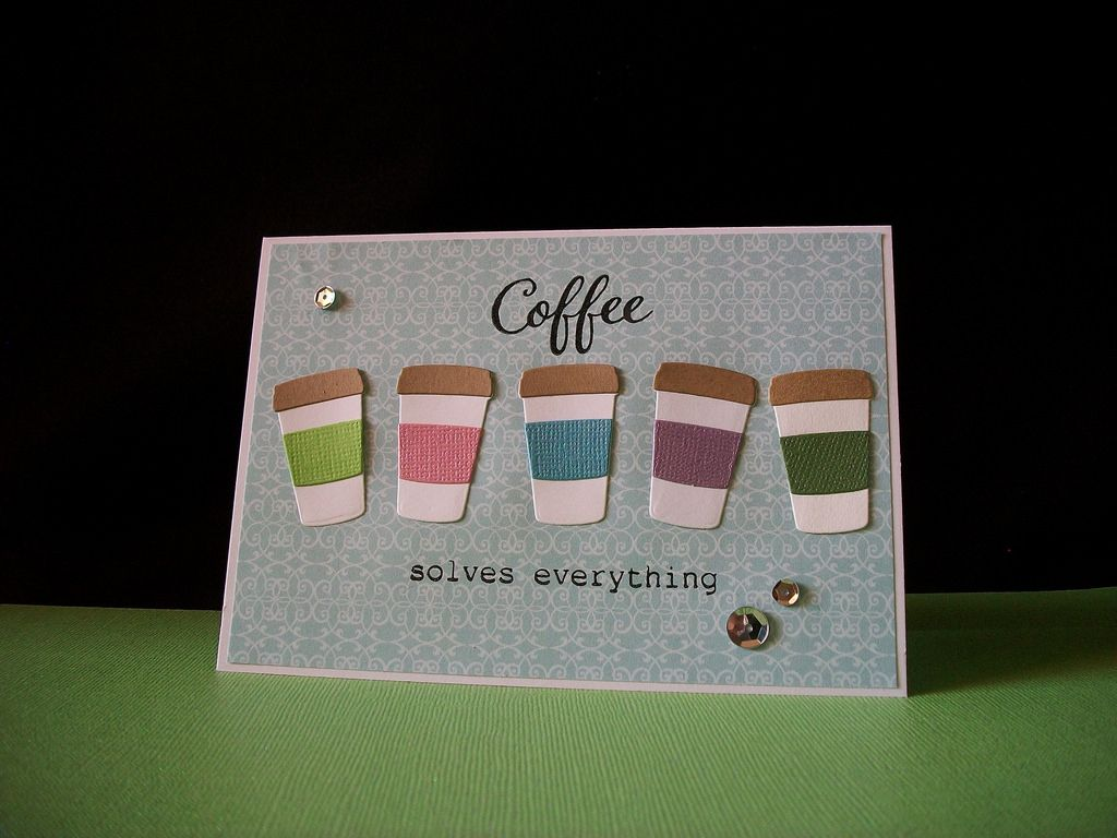 Summer time here in So. Florida means a lot of rainbows! So I made a rainbow colored line of coffee cups.  Products used: Taylored Expressions - Coffee To Go die Sugar Pea Designs - Caffeine Addict Core'dinations cardstock Recollections white & kraft cs Versafine black ink Stampendous clear ep pattern paper and silver sequins from stash I am linking to these challenges: 1. CLBH Summer 2017 coffeelovingcardmakers.com/2017/06/2017-summer-coffee-lov... 2. A Gem of a Challe...