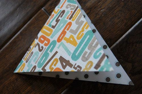 scrapbook bunting how-to