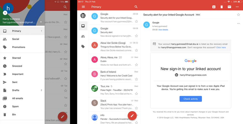 Outlook (free, iOS and Android) is *the* best mobile email