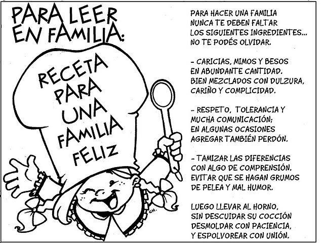 Dibujos Para Colorear De La Familia Feliz Con Mensajes Para Niños