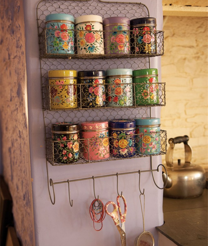Hand Painted Kashmiri Spice canister Assorted | Hand Painted
