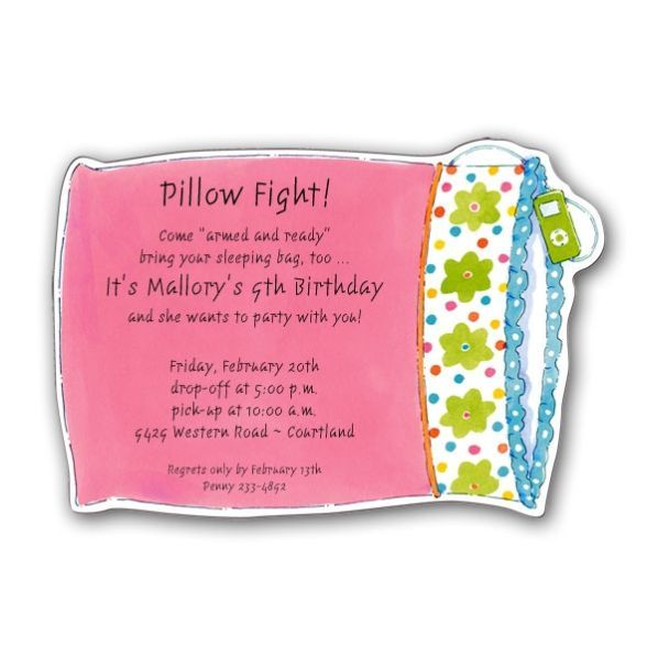 photos of slumber party invites | additional information, Party invitations