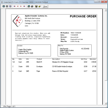 Simple Purchase Order Form Software.