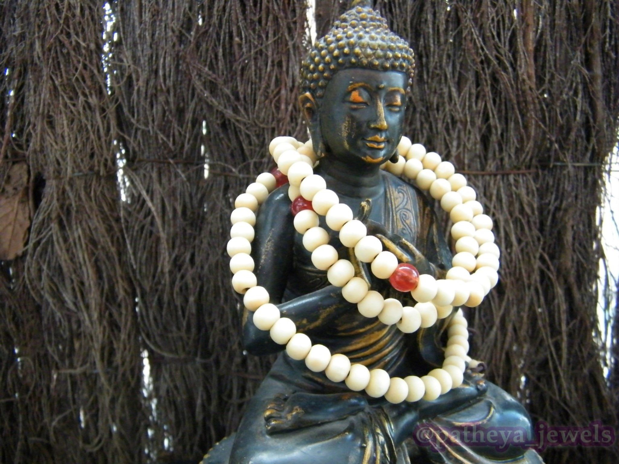 108 White Prayer Beads