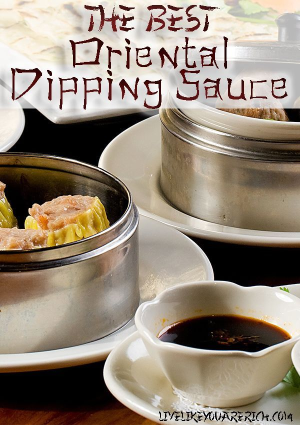 Talk asian or oriental dipping sauce are not