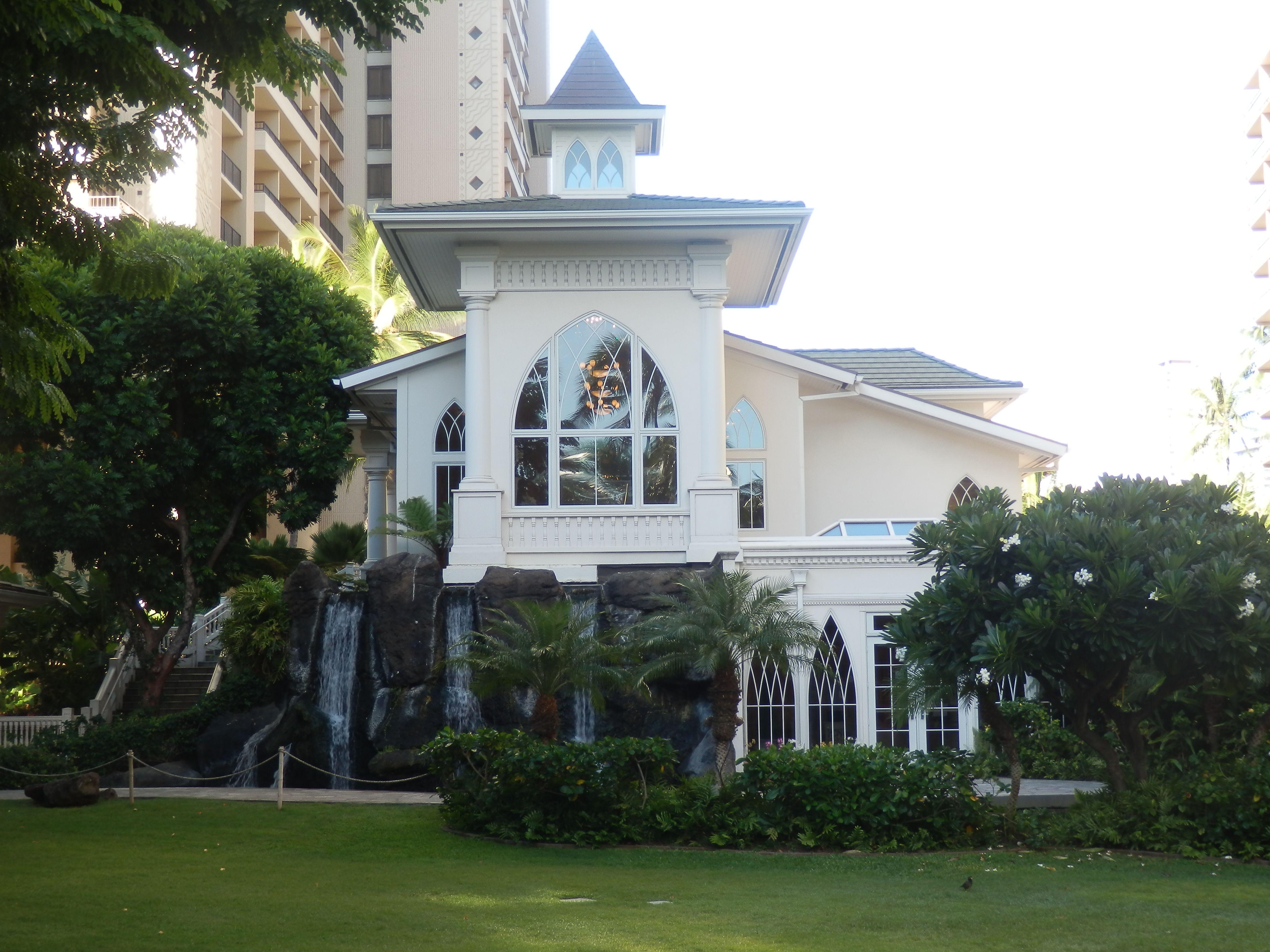Wedding Chapel At The Hilton Hawaiian Village Honolulu Hawaii Usa Hilton Hawaiian Village Honolulu Hawaii