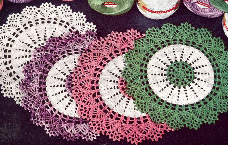 Vintage Crochet PATTERN to make Thread Doily Mat Centerpiece Motif ...