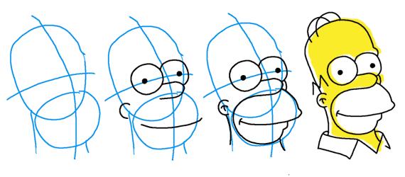 Como Dibujar A Homer Simpson Tutorial Paso A Paso Como Dibujar Tutoriales Ilustraciones