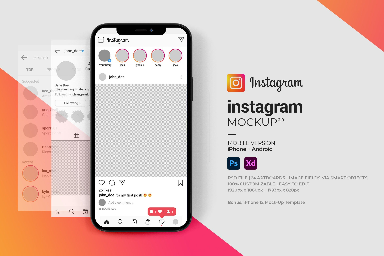 Pin By Logo Design On Mockup Instagram Template Instagram Mobile Instagram