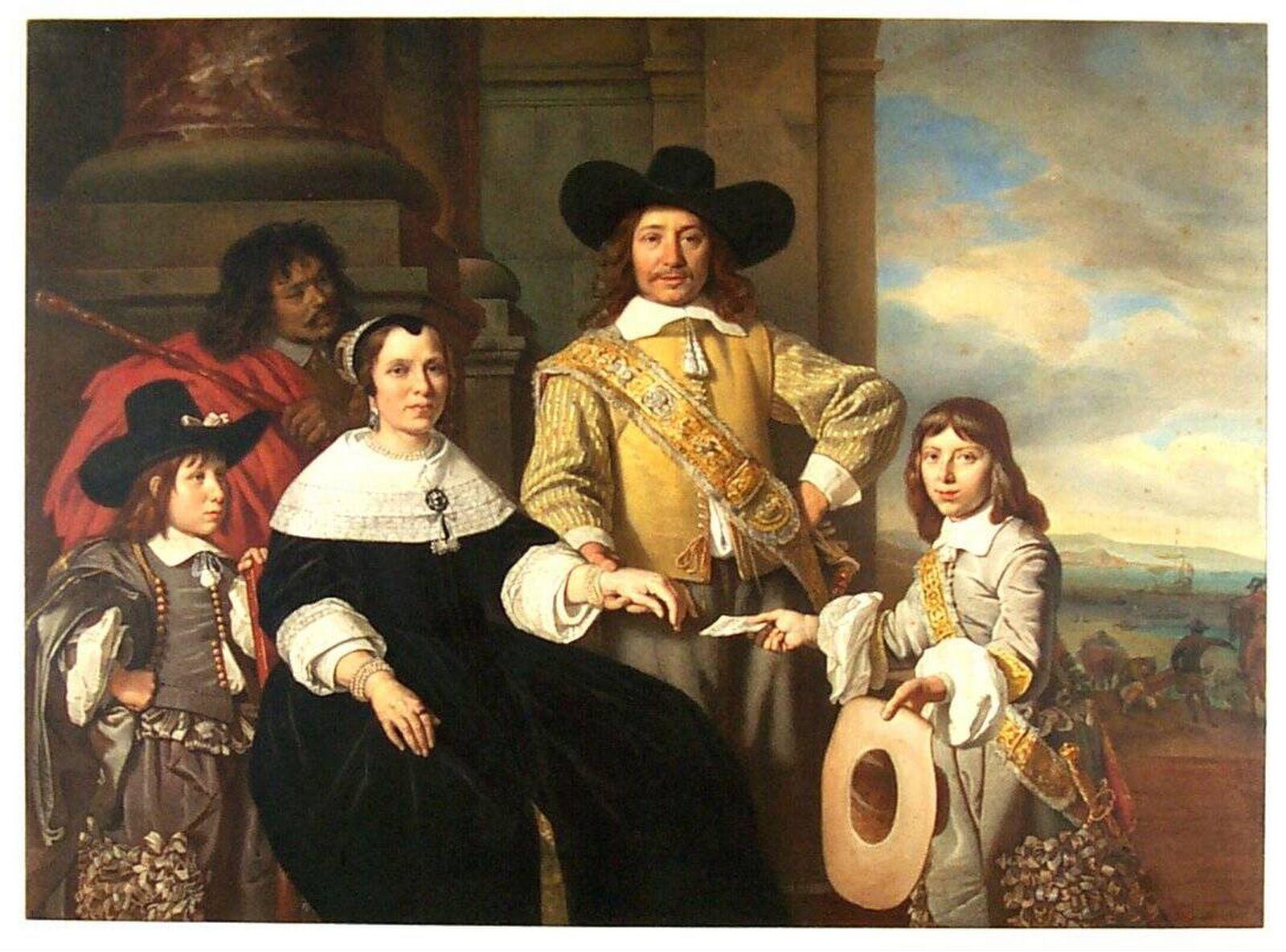 Familyportrait of Rijcklof Volckertsz van Goens (1619-1682), Governor of the Vereenigde Oostindische Compagnie (VOC).