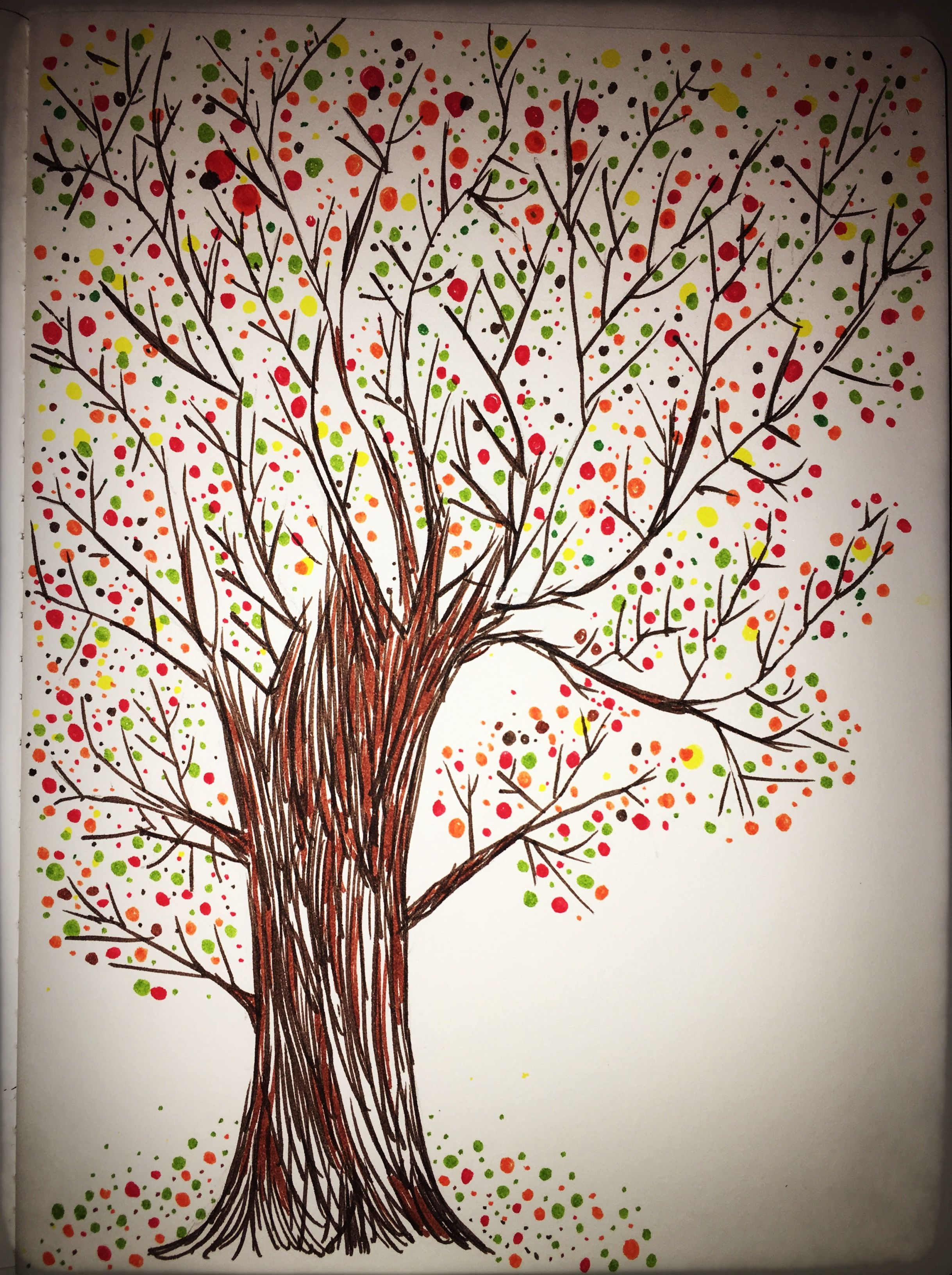 Fun watercolor marker doodle #marker #autumn #sketched Amy Raymond