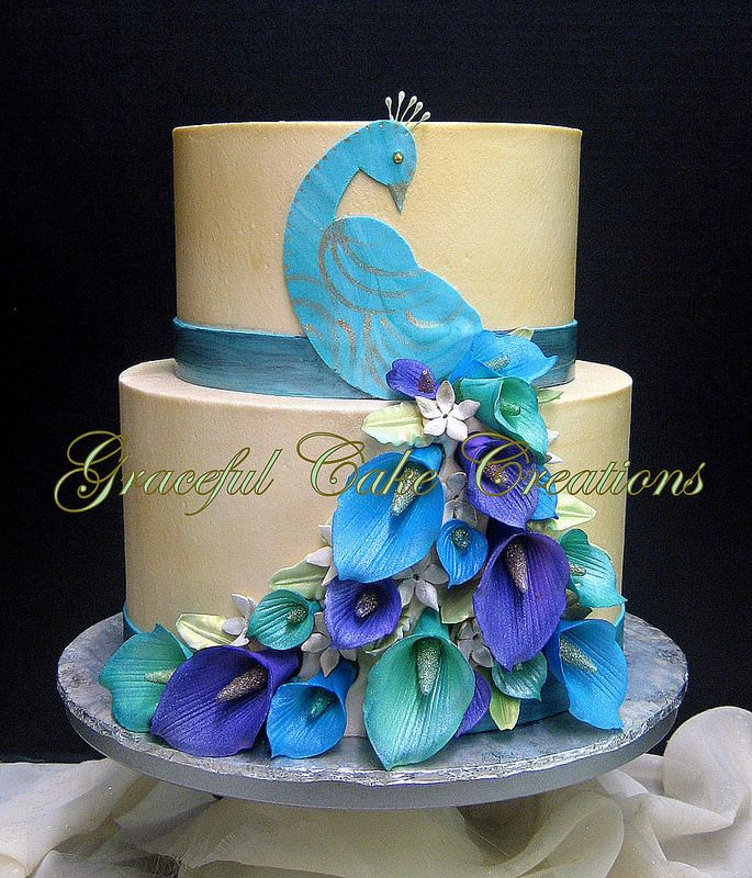 Elegant Peacock Themed Birthday Cake Birthday Cakes Cake And - Peacock birthday cake