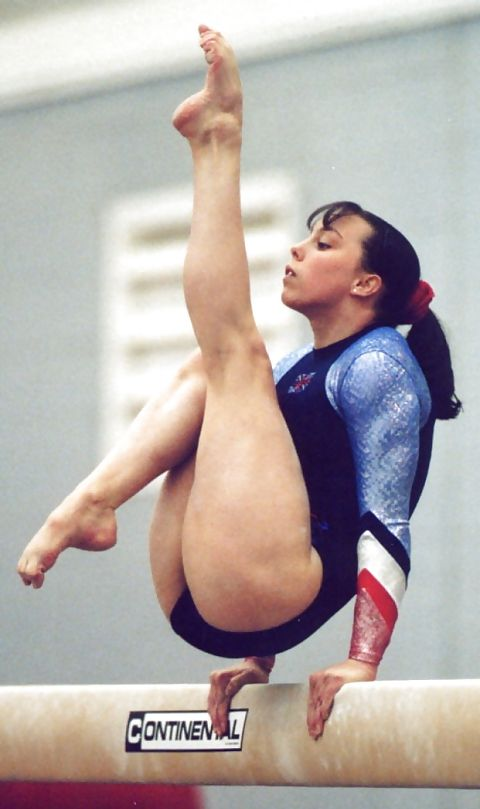 female feet Sexy gymnast