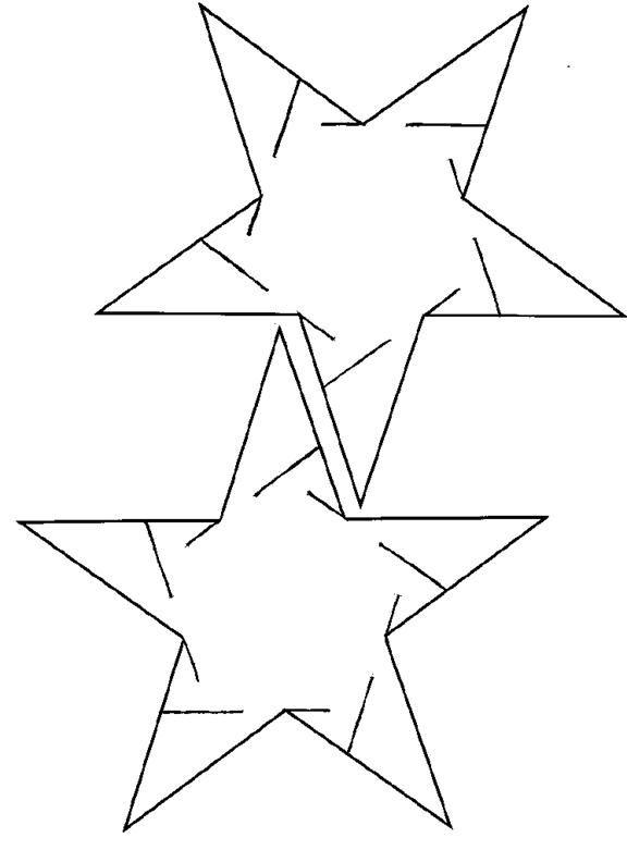 Slide-Together Geometric Constructions Sliceform template