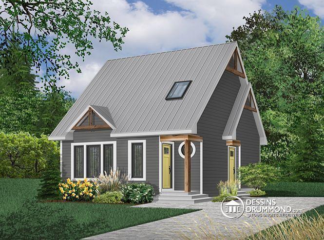 W2574 - Plan de maison style chalet 4-saisons, secteur d\u0027activité - Plan De Maison Originale