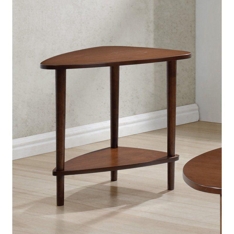 Coaster Furniture Triangular End Table   Walnut   From Hayneedle.com