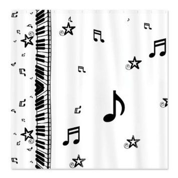 11d74e303c4a Amazon.com: Piano and Music Notes Shower Curtain by CafePress ...