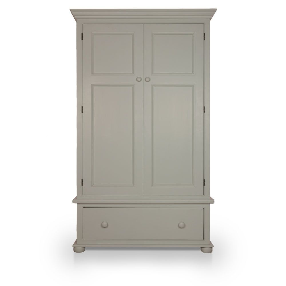 Painted Wardrobe | Solid Wood | Two Door | 4ft | Little Greene Pearl Colour