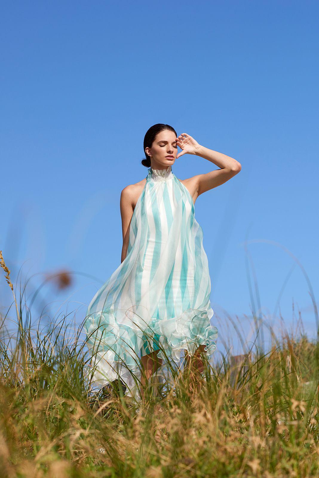 Silvia Tcherassi Resort 2017 Ethereal summer dress - striped dress ...