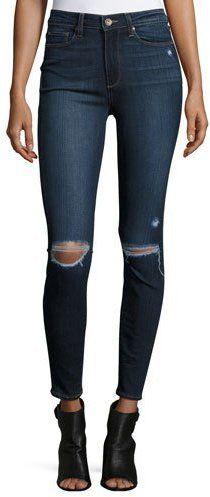 https://goo.gl/jmqekD #ootd #jeans #ootdmagazine Paige Denim Hoxton Destructed Ankle Jeans, Aveline