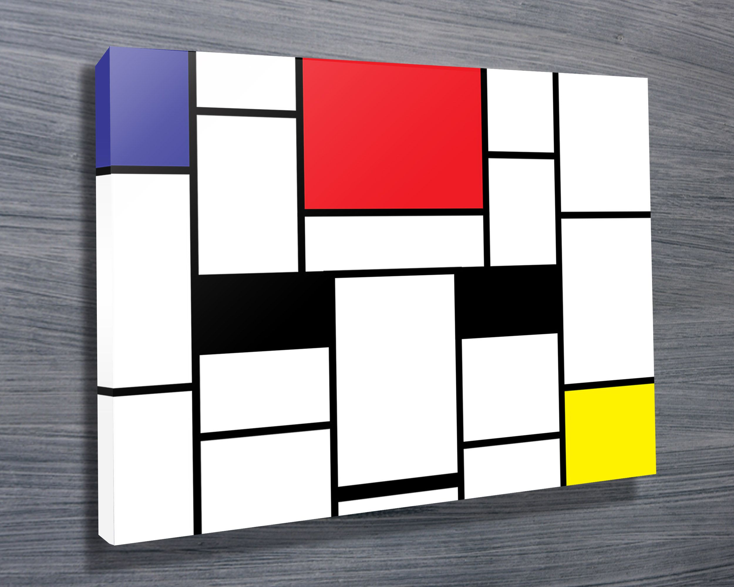 Mondrian Wall Pin By Blue Horizon Prints Photos On Canvas On Modern