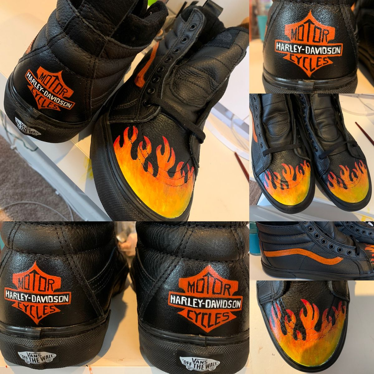 Harley-Davidson Custom Vans | Harley davidson shoes, Diy shoes ...