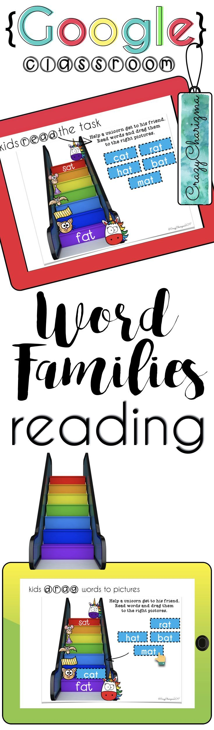 Practice Word Families with these Google Classroom kindergarten ...