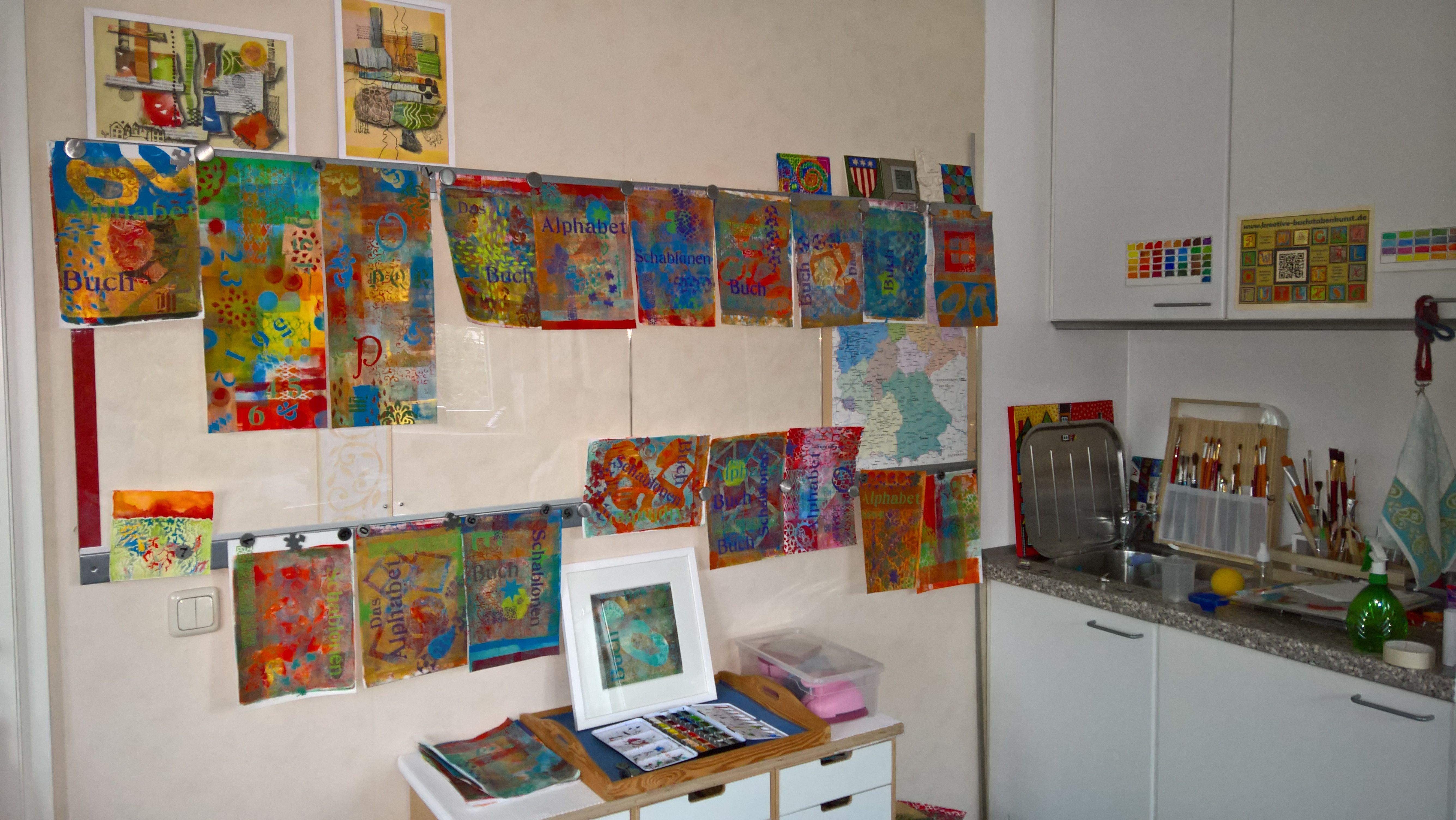 Zimmer Kreativ Streichen Wände Kreativ Selbst Gestalten Stock