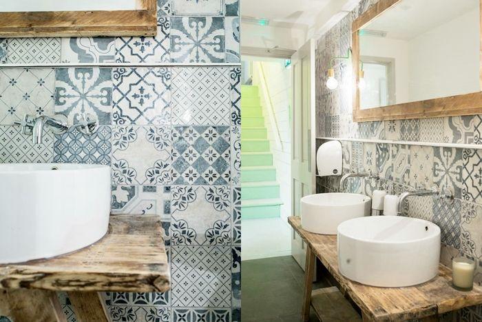 Arredare il bagno con le piastrelle in stile portoghese #azulejos