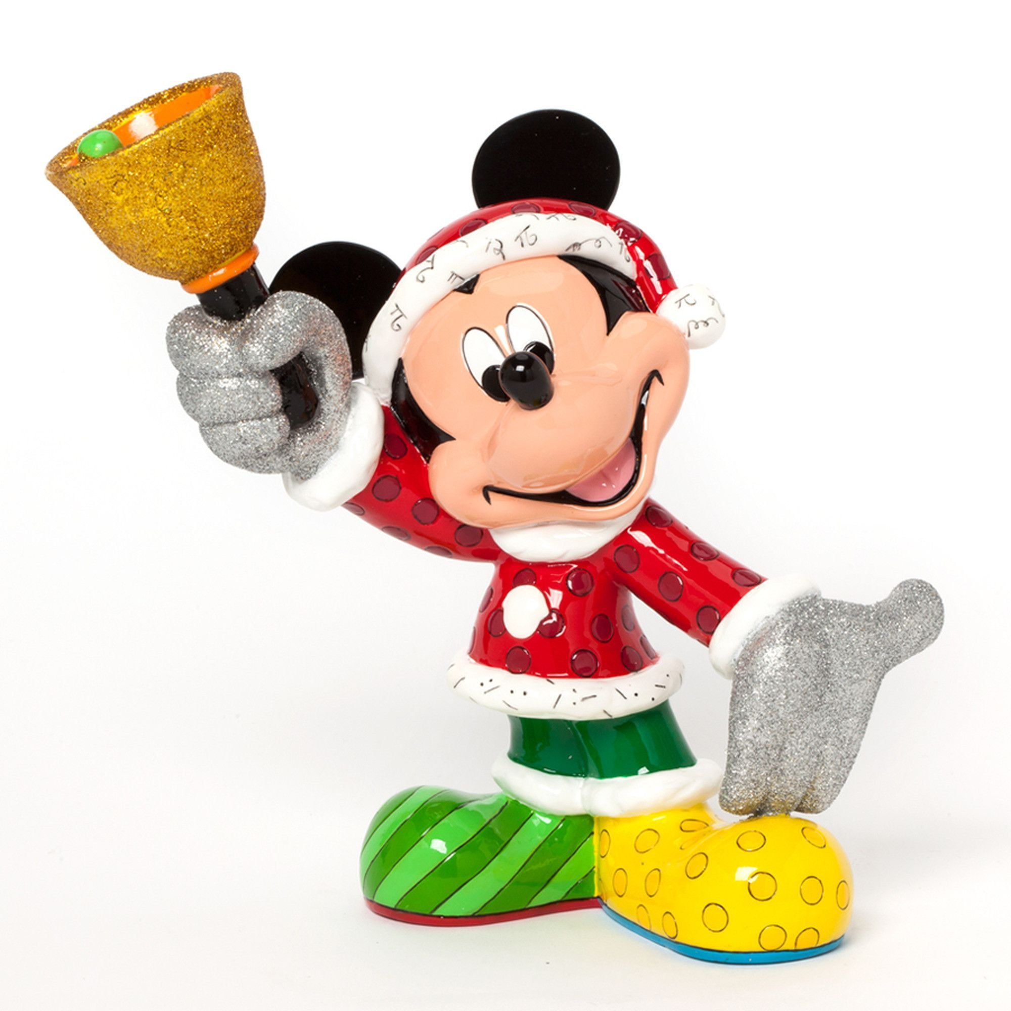 Disney Britto Santa Mickey Figurine - Minnie Mouse Halloween Decorations