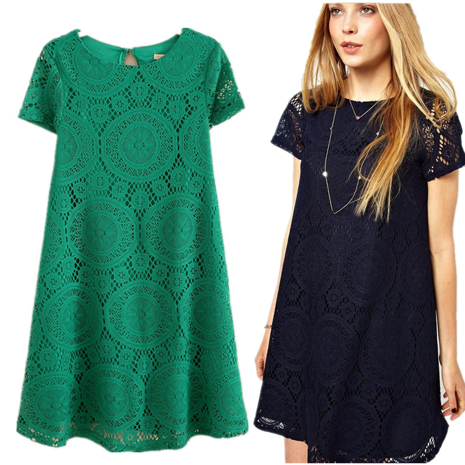 Free ship Women&girls Lace Floral Short Party Evening Cocktail ...