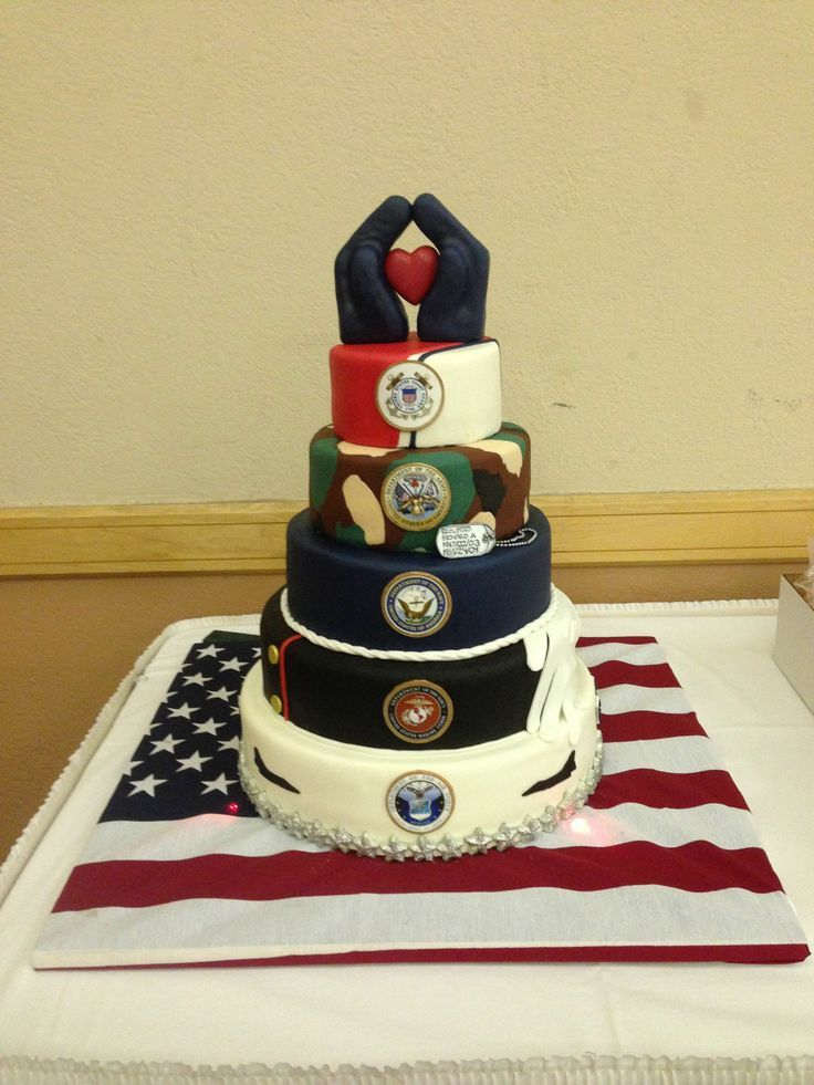 Image result for military branches tiered cake | USAFA Military Ball ...