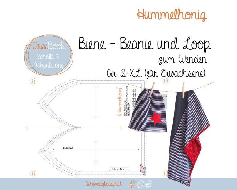Beanie und loop für Erwachsene freebook | sewing | Pinterest ...