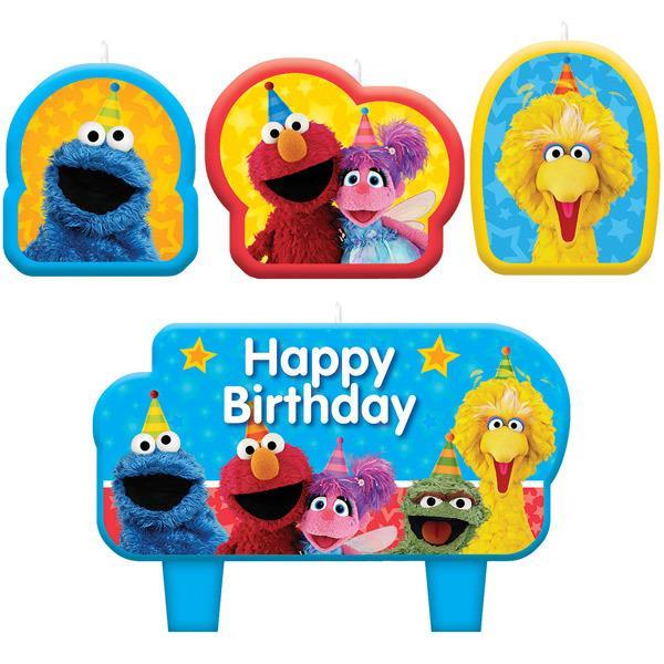 123 Sesame Street Elmo & Friends Candle Set Birthday Party