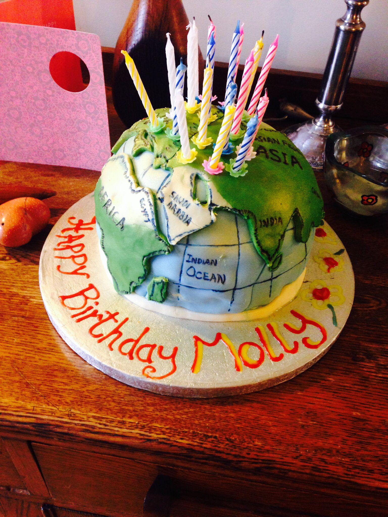 World Birthday Cake Made By My Dad